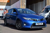 USED 2015 15 TOYOTA AURIS 1.6 VALVEMATIC ICON PLUS 5d AUTO 130 BHP A 1 private owner Auris 'Icon' Automatic Estate Car, 5 Services all carried out by the supplying Toyota dealer, teh last one was in June this year at 48458 miles. The others were done at 10289,19943, 29515, 39224, Miles. Specification includes Sat Nav, Heated Front Seats, and even the original camera supplied by Toyota from new. Great value.