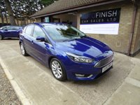 USED 2016 16 FORD FOCUS 1.5 TITANIUM TDCI 5d 118 BHP * FULL SERVICE HISTORY * 2 KEYS * 1 KEEPER  * DAB RADIO * ZERO ROAD TAX *