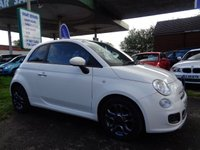 USED 2013 63 FIAT 500 1.2 S 3d 69 BHP SERVICE HISTORY