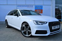 USED 2017 17 AUDI A4 AVANT 2.0 AVANT TDI BLACK EDITION 5d Family Estate AUTO Stunning in White with Black Pack Sat Nav Heated Seats Audi Service History and Ready to Finance and Drive Away Today PREVIOUSLY LOCALLY OWNED