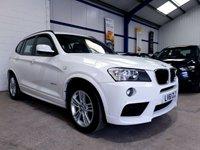 USED 2012 61 BMW X3 2.0 XDRIVE20D M SPORT 5d AUTO 181 BHP