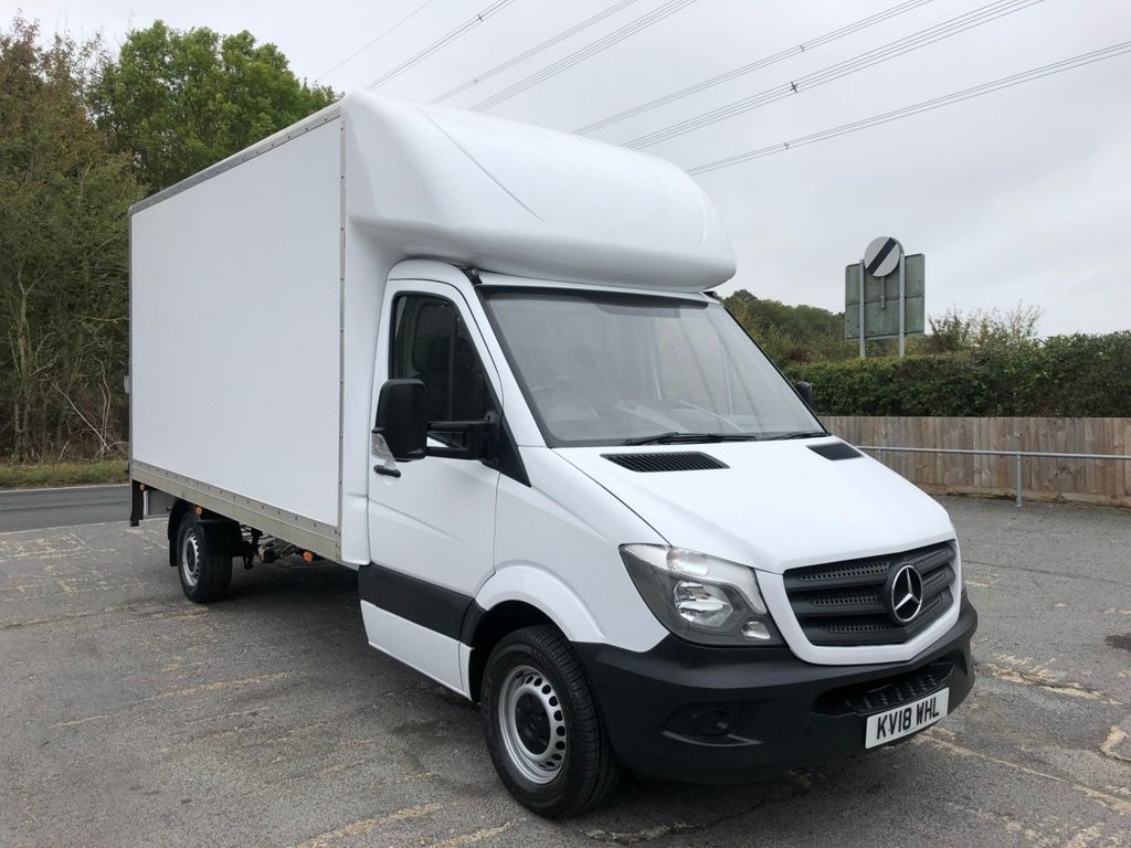 USED 2018 18 MERCEDES-BENZ SPRINTER 2.1CDI 314 LWB LUTON TAIL-LIFT (EURO 6)(140 BHP)(CAT-LOC)