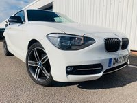 USED 2013 13 BMW 1 SERIES 1.6 116I SPORT 3d 135 BHP MOT MAY 2020 - SERVICE HISTORY - LAST SEOT 2019 - DAB RADIO - FACELIFT MODEL - ALL ALLOYS HAVE BEEN REFURBISHED - 3 MONTH WARRANTY