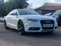 USED 2014 64 AUDI A5 2.0 TDI ULTRA SE 2d 161 BHP LEATHER +   20 INCH ALLOYS +  1 PREVIOUS KEEPER +  BLUETOOTH +   HEATED SEATS +  PARKING AID +  MOT JULY 2020 +