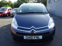USED 2010 10 CITROEN C4 GRAND PICASSO 1.6 VTR PLUS HDI EGS 5d AUTO 107 BHP LOW MILEAGE AUTO 7 SEATER WITH FULL SERVICE HISTORY