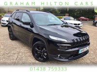 USED 2016 16 JEEP CHEROKEE 2.2 M-JET II NIGHT EAGLE 5d AUTO 197 BHP ELECTRIC TAILGATE, PARKING SENSORS, FOLDING MIRRORS, AUX/USB INPUT, HEATED LEATHER, ELECTRIC SEATS, NAVIGATION, BLUETOOTH, MEDIA, CRUISE CONTROL, ISOFIX, VOICE CONTROL, AUTOMATIC LIGHTS, FRONT ARMREST, FULL MAIN DEALER SERVICE HISTORY, 1 FORMER KEEPER, SPARE KEY.