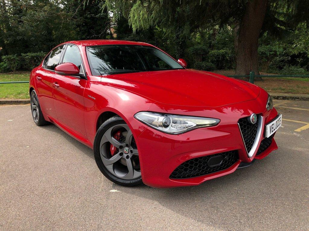 USED 2017 17 ALFA ROMEO GIULIA 2.0 TB VELOCE 4d AUTO 277 BHP INCREDIBLY LOW MILEAGE