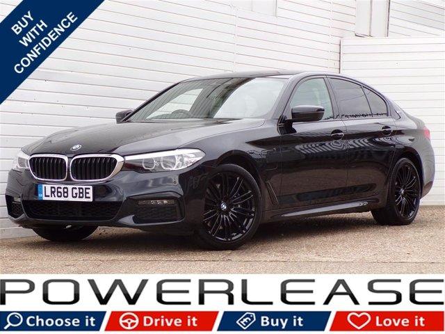 USED 2018 68 BMW 5 SERIES 2.0 530E M SPORT 4d AUTO 249 BHP PRO NAV MEMORY SEATS FSH