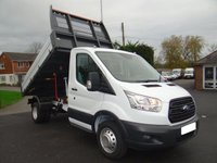 USED 2018 18 FORD TRANSIT 350 MWB DRW TIPPER 2.2TDCI 130 BHP EURO 6 Direct From Company with Only 9000 Miles & Warranty Till March 2021 Popular Dual Rear Wheel Model Fitted With Durable Brit Tip Steel Body