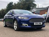 USED 2016 16 FORD MONDEO 2.0 TITANIUM TDCI 5d AUTO 177 BHP 1 OWNER FROM NEW *   DAB RADIO *  NAVIGATION SYSTEM +   BLUETOOTH +  FULL SERVICE RECORD +