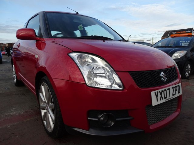 USED 2007 07 SUZUKI SWIFT 1.6 SPORT 3d 124 BHP LOW MILES 1 YEAR MOT