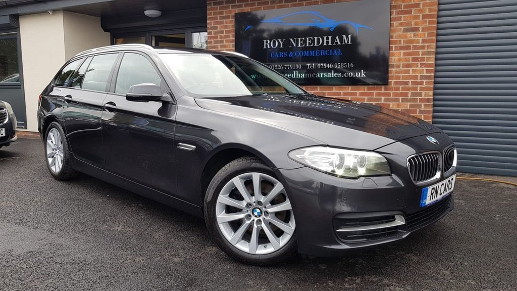 USED 2014 64 BMW 5 SERIES 2.0 520D SE TOURING 5DR 188 BHP *** SAT NAV - HEATED LEATHER - SENSORS ***