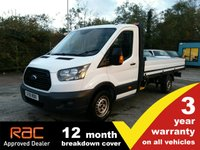 USED 2018 18 FORD TRANSIT DROPSIDE 350 L4 SRW 1-Stop 130ps SRW - 200kg more load weight.