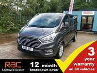 USED 2018 18 FORD TOURNEO CUSTOM 310 L2 Titanium 130ps (Sat Nav, Leather, 9-seats) Facelift. 3 year warranty.