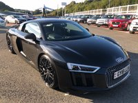 USED 2018 18 AUDI R8 5.2 V10 PLUS QUATTRO 2d AUTO 602 BHP Interior & Exterior Carbon Fibre Packages, 20 inch Y-Spoke wheels, camera, B&O ++