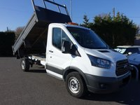 USED 2018 68 FORD TRANSIT 350 SRW MWB TIPPER 2.0TDCI 130 BHP One Company Owner With 8000 Miles! Ford Warranty Remaining Till November 2022, Brittip Steel Body, Very Clean Example!