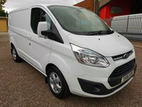 2016 FORD TRANSIT CUSTOM 270 LIMITED L1 H1 SWB Low roof 125PS *AIR CON + CRUISE* £11495.00