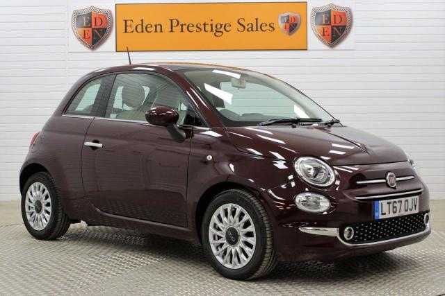 USED 2017 67 FIAT 500 0.9 TwinAir Lounge (s/s) 3dr LEATHER*A/C*APPLE/ANDROID*DAB