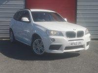 2012 BMW X3 2.0 XDRIVE20D M SPORT 5d AUTO 181 BHP £13795.00