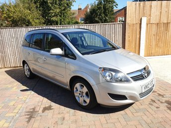 2012 VAUXHALL ZAFIRA 1.8 EXCLUSIV 5d 138 BHP £4497.00