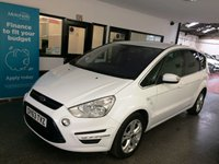 USED 2013 63 FORD S-MAX 1.6 TITANIUM TDCI S/S 5d 115 BHP This S-Max Titanium is finished in frozen white with Black cloth seats. It is fitted with power steering, remote locking, electric windows and mirrors, dual zone climate control, cruise control, heated front screen, Day lights, front & rear parking sensors, Bluetooth, alloy wheels, USB Aux port and more. It has had two owners from new, the last private owner since it 2016. It comes with a full Ford service history consisting of 7 stamps last done at 87820 miles.