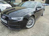 USED 2013 13 AUDI A5 2.0 TDI S LINE S/S 2d AUTO 177 BHP FSH, Excellent Condition, No Fee Finance Available, No Deposit Necessary
