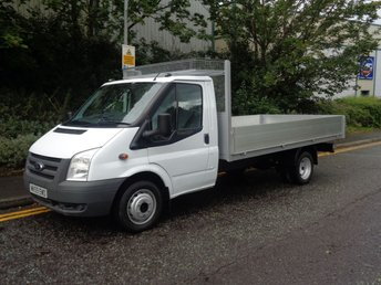 2009 FORD TRANSIT 2.4 350 E/F DRW 1d 100 BHP LWB PICKUP/DROPSIDE MORE IN STOCK   £6495.00