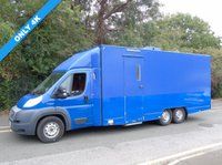 USED 2014 63 FIAT DUCATO 3.0 160BHP POWER 6 WHEEL TRI-AXLE MOBILE OFFICE/ EXHIBITION UNIT  +ONLY 4K+ GENERATOR+ 6000KG