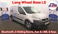 USED 2017 17 PEUGEOT PARTNER 1.6 BLUE HDI L2 Long Wheel Base 100 BHP in Silver with Bluetooth, Aux & USB, Two Sliding Doors and more ** Drive Away Today** Over The Phone Low Rate Finance Available, Just Call us on 01709 866668 **