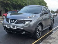 USED 2013 63 NISSAN JUKE 1.6 N-TEC 5d 115 BHP Only 45,118 miles, Parking camera, SAT NAV, Diamond cut Alloys, Cruise control, Climate control, Bluetooth, Electric windows, central locking, PAS,ABS, Service history.