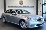 """USED 2013 13 MERCEDES-BENZ E CLASS 2.1 E220 CDI BLUEEFFICIENCY S/S SPORT 4DR AUTO 170 BHP full service history Finished in a stunning iridium metallic silver styled with  18"""" alloys. Upon opening the drivers door you are presented with full black leather interior, full service history, satellite navigation, bluetooth, heated seats, LED runnng lights, AMG styling package, parking sensor"""
