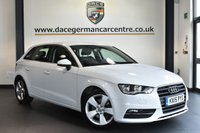 """USED 2015 15 AUDI A3 2.0 SPORTBACK TDI SPORT 5DR [182 BHP] superb service history Finished in a stunning glacier metallic white styled with 17"""" alloys. Upon opening the drivers door you are presented with cloth upholstery, superb service history, bluetooth, dab radio, sport seats, climate control, heated mirrors"""