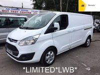 USED 2016 16 FORD TRANSIT CUSTOM LWB 2.2 TDCi 290 LIMITED LR 124 BHP