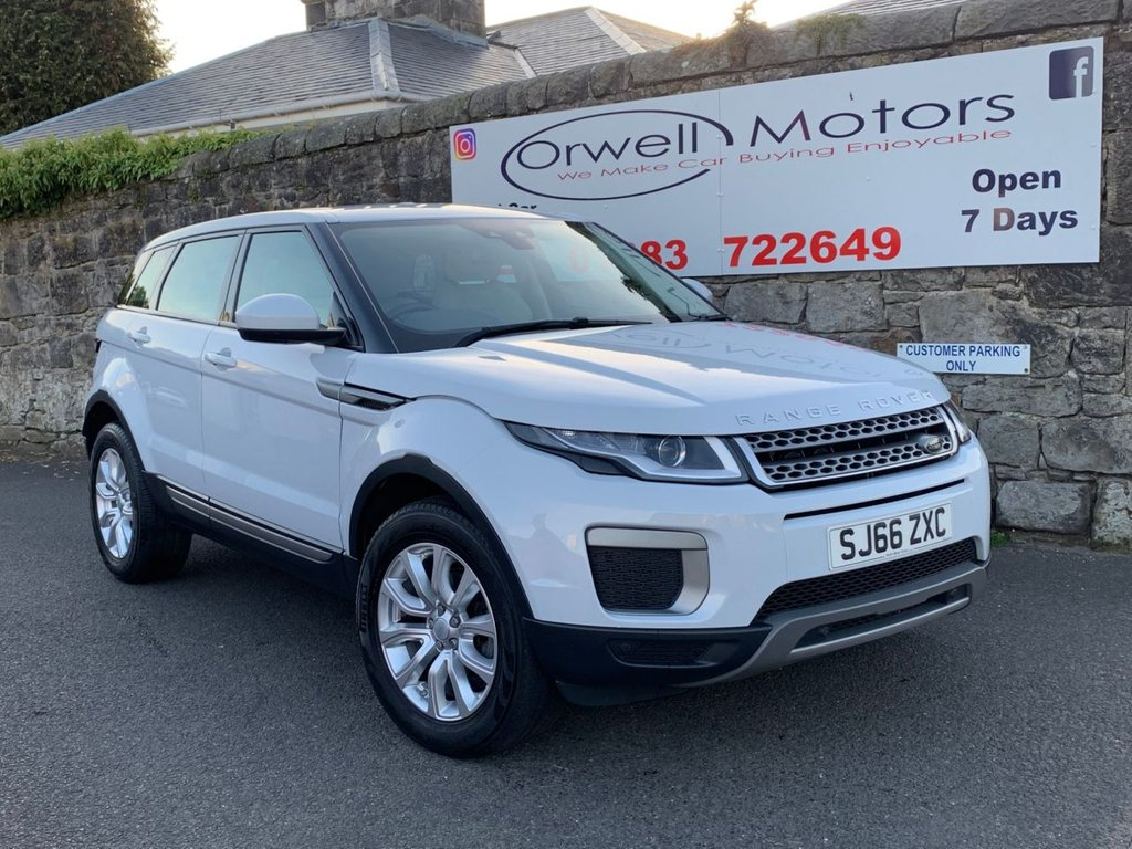 USED 2016 66 LAND ROVER RANGE ROVER EVOQUE 2.0 ED4 SE 5d 148 BHP FINANCE AVAILABLE+YULONG WHITE+CRUISE CONTROL+BLUETOOTH