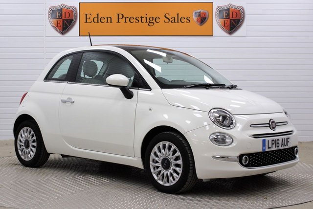 USED 2016 16 FIAT 500 1.2 8V Lounge (s/s) 3dr *VAT Q*PAN ROOF*TOUCH SCREEN