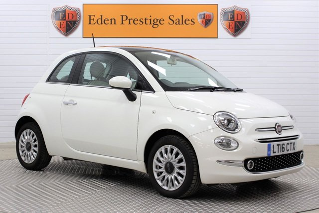 USED 2016 16 FIAT 500 1.2 LOUNGE 3d 69 BHP 1 OWN*TCH SCREEN DAB*PAN-ROOF