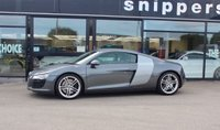 USED 2008 08 AUDI R8 4.2 QUATTRO 2d 420 BHP Huge Specification Daytona Grey Pearl R8, Bucket Seats, Magnetic Ride, Carbon Sigma Engine Bay Trim, Alcantara Headlining, Heated Seats, Upgraded Pioneer Music System With Apple CarPlay, Upgraded Steering Wheel, R8 Logo Puddle Lighting, Stainless Steerl Pedals, Bluetooth Phone, Bang &Olufsen Speaker System, Front And Rear Parking Sensors, Cruise Control, 2 Keys Book Pack, Full Service History.