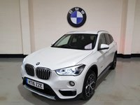 USED 2016 16 BMW X1 2.0 XDRIVE18D XLINE 5d AUTO 148 BHP Heads Up Display/Pearl White/Leather/Sat-Nav/Power Boot