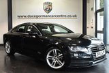 "USED 2012 62 AUDI A7 3.0 TDI S LINE 5DR AUTO 201 BHP full service history Finished in a stunning black styled with 19"" alloys. Upon opening the drivers door you are presented with full black leather interior, full service history, satellite navigation, bluetooth, heated electric sport seats, xenon lights, dab radio, cruise control, climate control, USB/AUX port, parking sensors"