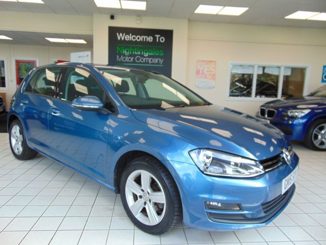 USED 2015 15 VOLKSWAGEN GOLF 1.6 MATCH TDI BLUEMOTION TECHNOLOGY 5d 103 BHP £ 0 ROAD TAX + SERVICE HISTORY + MAY 2020 MOT + BLUETOOTH + AIR CONDITIONING + CRUISE CONTROL + DAB RADIO + ALLOY WHEELS + FRONT AND REAR PARKING SENORS + SPARE WHEELS + ELECTRIC WINDOWS + CENTRAL LOCKING + ABS +