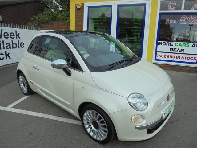 USED 2011 11 FIAT 500 1.2 LOUNGE 3d 69 BHP JUST ARRIVED GLASS ROOF