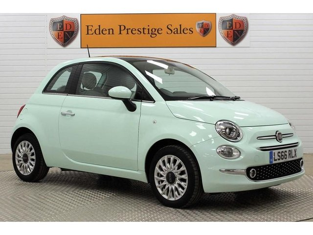 USED 2016 66 FIAT 500 1.2 8V Lounge (s/s) 3dr 1 OWNER*PAN ROOF*A/C*BLUETOOTH