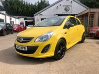 USED 2012 12 VAUXHALL CORSA 1.2 LIMITED EDITION 3d 83 BHP VERY LOW MILEAGE