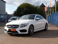 USED 2016 66 MERCEDES-BENZ C CLASS 2.1 C 250 D AMG LINE PREMIUM PLUS 2d AUTO 201 BHP COMAND ~ AIRSCARF ~ HEATED LEATHER ~ HUGE SPECIFICATION ~ DIAMOND PEARL WHITE ~