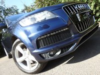 USED 2013 13 AUDI Q7 3.0 TDI QUATTRO S LINE + S/S 5d AUTO 204 BHP HUGE SPEC 52K FSH LEATHER A/C