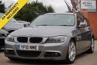 USED 2010 10 BMW 3 SERIES 2.0 320D M SPORT TOURING 5d 181 BHP MOT UNTIL SEPTEMBER 2020 + FULL LEATHER INTERIOR
