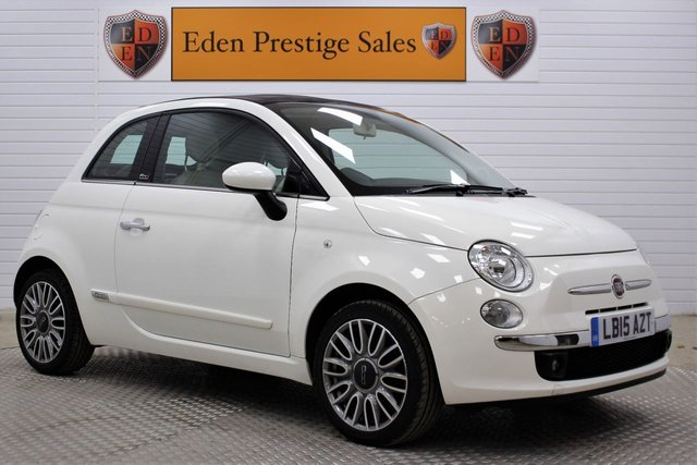 USED 2015 15 FIAT 500C 1.2 Lounge (s/s) 2dr *1 OWNER*FFSH*RR PK*CLIMATE