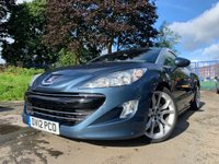 USED 2012 12 PEUGEOT RCZ 2.0 HDI GT 2d 163 BHP 1 FORMER KEEPER+ALLOYS+CLIMATE+CRUISE+HEATED LEATHER SEATS+SPOILER+
