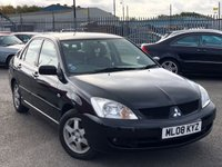 USED 2008 08 MITSUBISHI LANCER 1.6 ELEGANCE 4d 97 BHP *ONLY 54K MILES, AIR CON, ELECTRIC WINDOWS!*