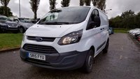 USED 2015 15 FORD TRANSIT CUSTOM 2.2 270 LR P/V 1d 99 BHP 1 OWNER  FROM NEW *  SERVICE RECORD *  MOT AUGUST 2020 *  BULK HEAD *  ROOF RACK *  3 FRONT SEATS *